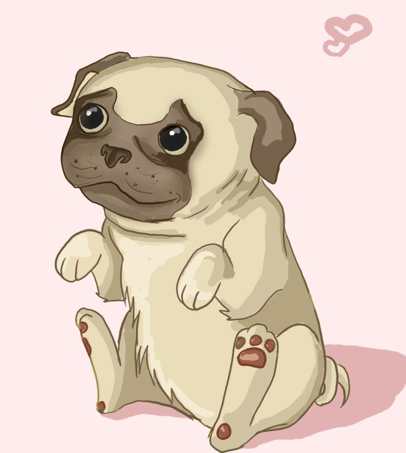 Pug Chibi By Bapity88 On Deviantart Pugs Pug Lover Pug Art
