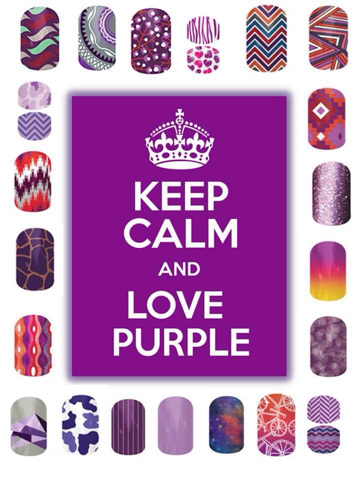 keep calm and  jam on  love  purple  jamberry nails