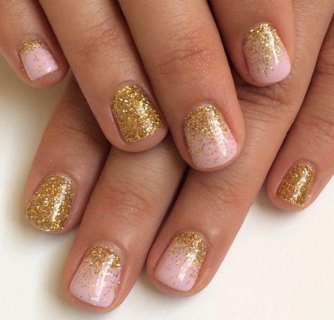 Light Pink And Gold Nail Design Fashion Pinterest Nails Nail