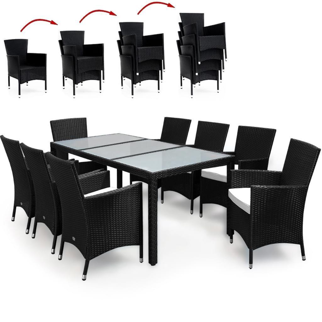 Deuba® Poly Rattan 8+1 Sitzgruppe inkl. 7cm dicke Sitzauflagen in ...