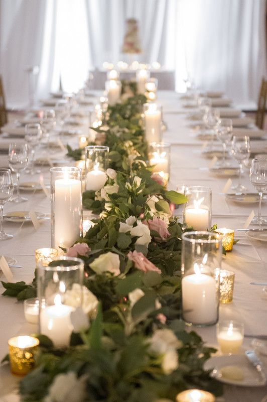 Head table garland flat eucalyptus