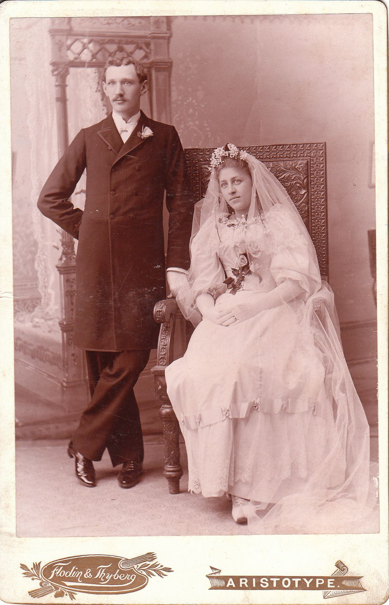 Fotografia antigua de boda | Cabinet Card Vintage | Pinterest ...