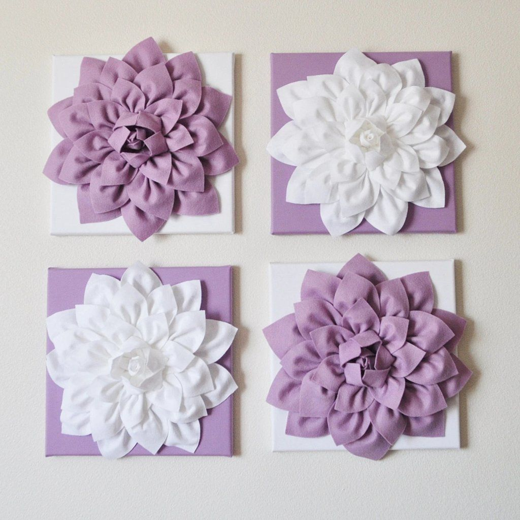 Lilac And White Floral Wall Art In 2020 Hanging Flower Wall Lilac Decor Textured Wall Art