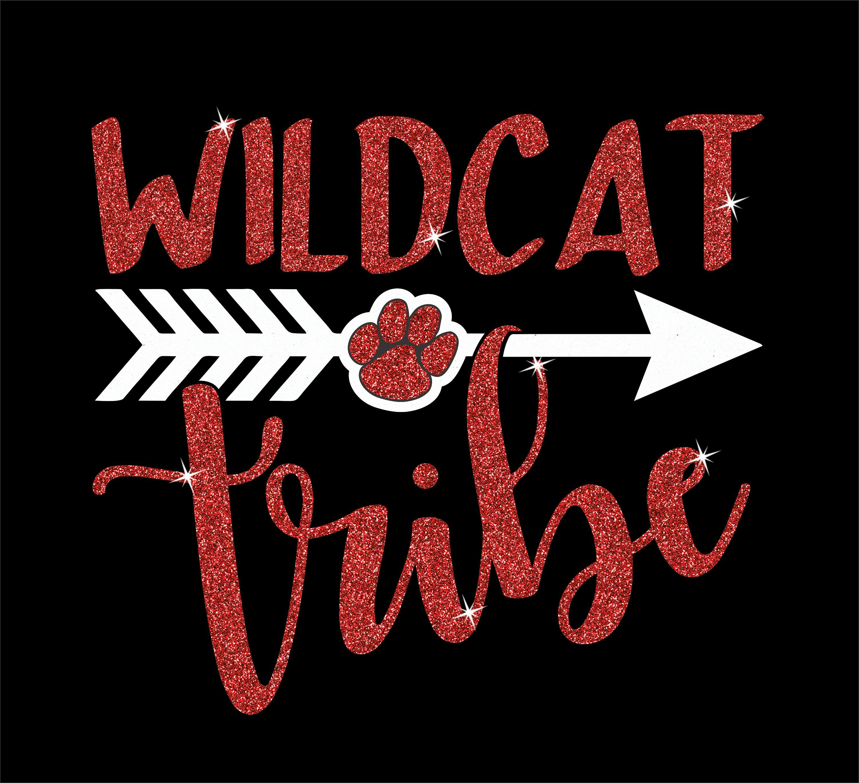 Wildcat Tee Wildcat Tribe Glitter Tee Wildcat School Tee Etsy In 2020 School Spirit Shirts Designs School Spirit Shirts School Tees
