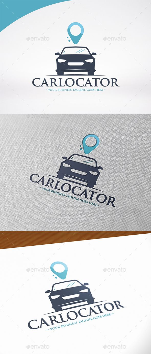 Car Locate Logo Template   Photoshop