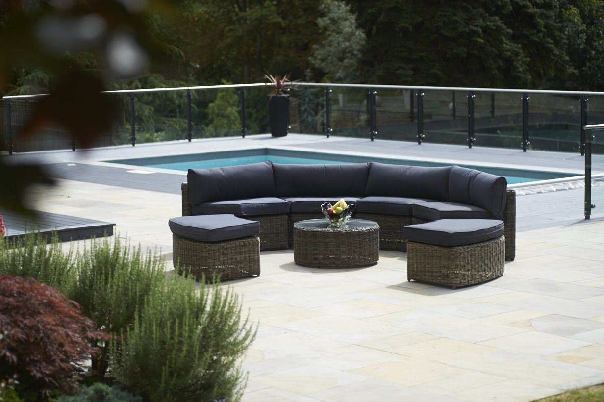 Bridgman Garden Furniture Already comfy with this sofa 7 piece mayfair curved modular add some real style to your garden or conservatory with this exclusive wickerline set consisting of seven elegant pieces four modular curved sofas workwithnaturefo