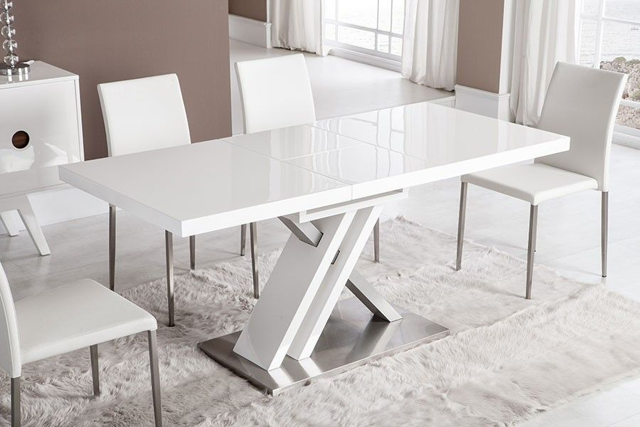 Table de salle à manger rectangulaire design avec rallonge BERNIE ...
