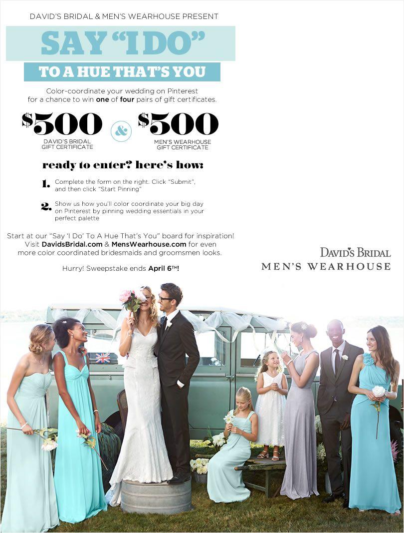 Mens wearhouse wedding sweepstakes giveaways