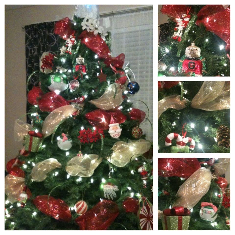 Christmas Trees Ribbon: Christmas Tree Mesh Ribbon