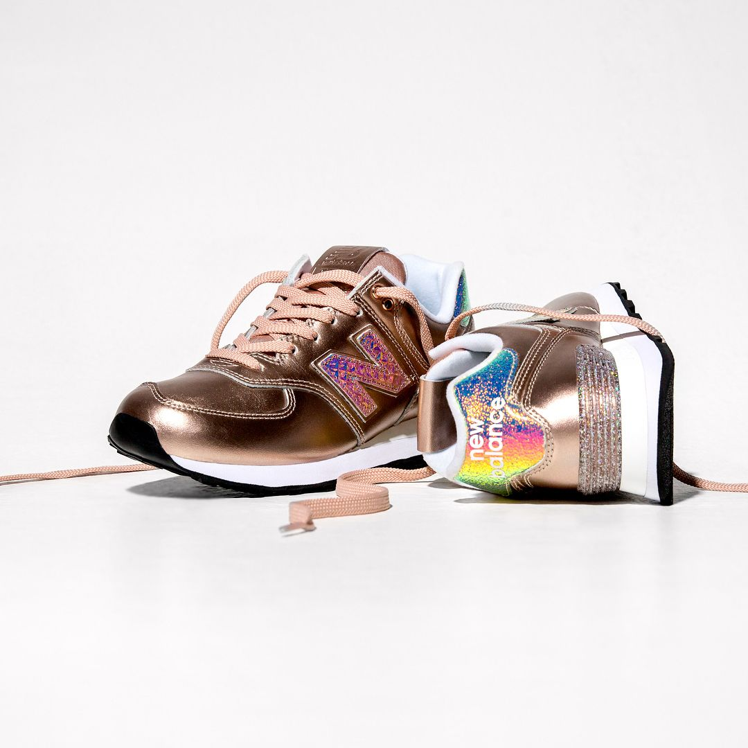 New Balance 574 Pink Gold - Glitter Punk . Disponible ...