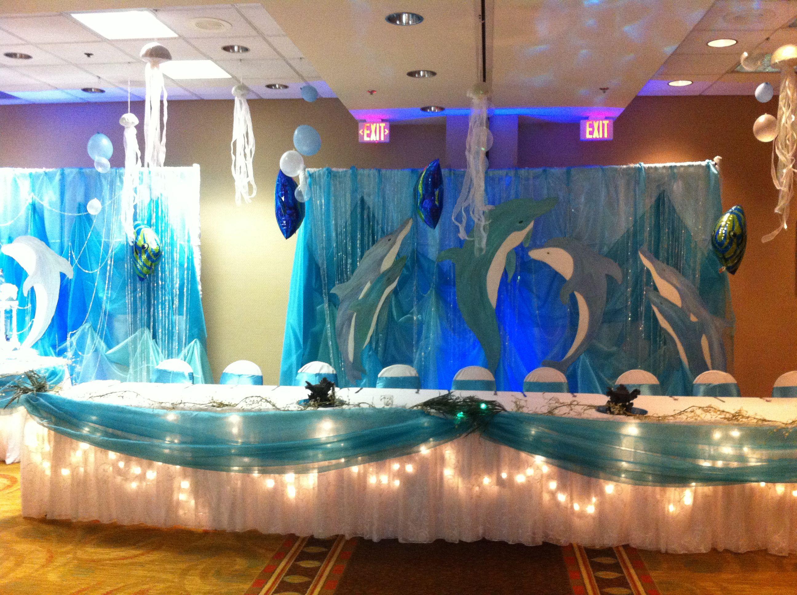 Classroom Decoration Ideas For Quinceaneras ~ Under the sea theme dance pinterest