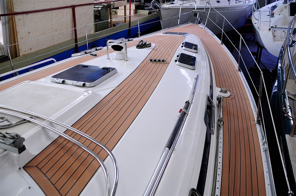 #wood plastic wood for Boat Deck in Norway ,wood plastic