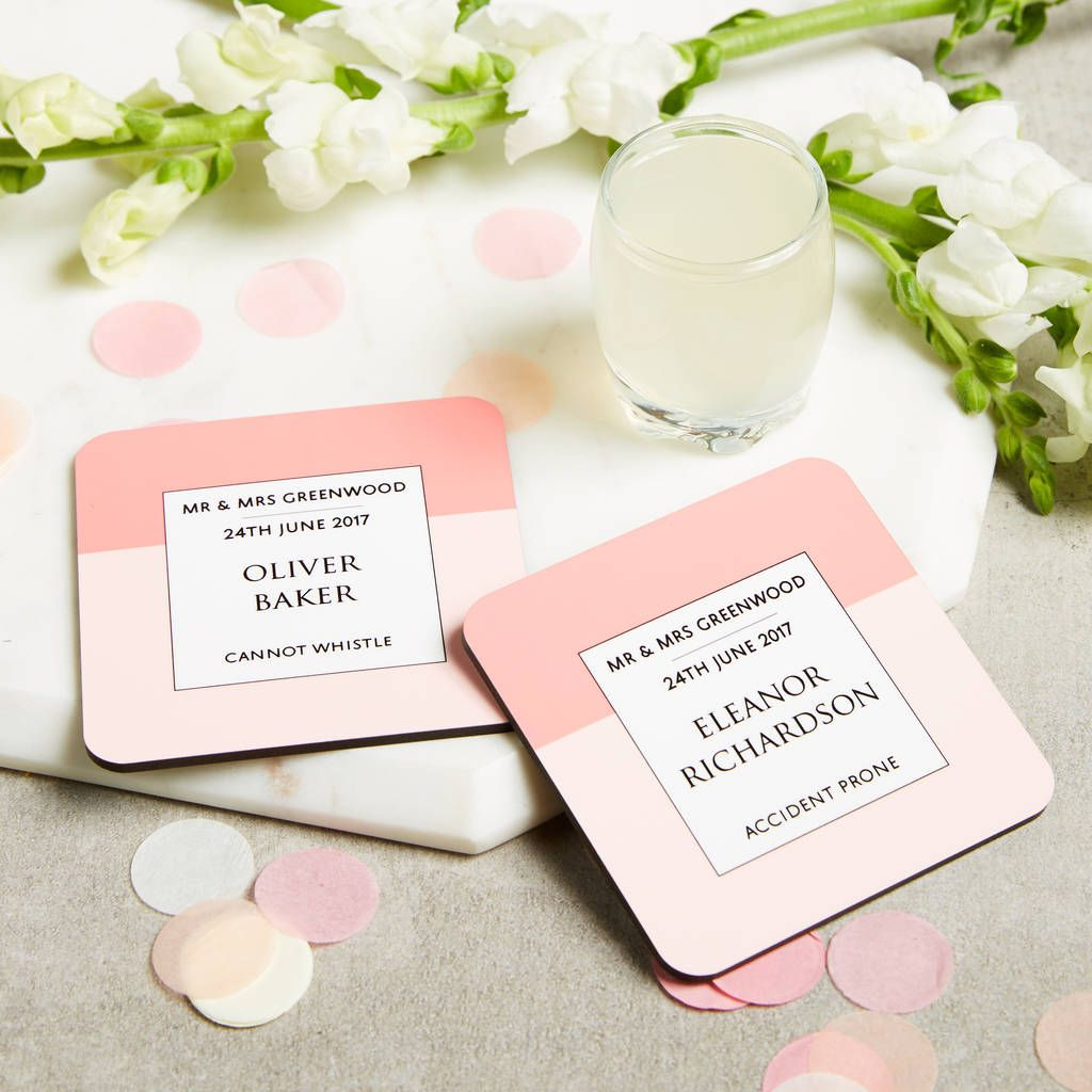 Personalised Wedding Favour Wedding Guest Coasters | Favours ...