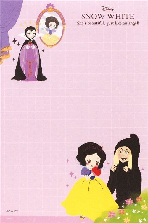 Snow White Dwarfs Memo Pad From Japan 5 Snow White Dwarfs