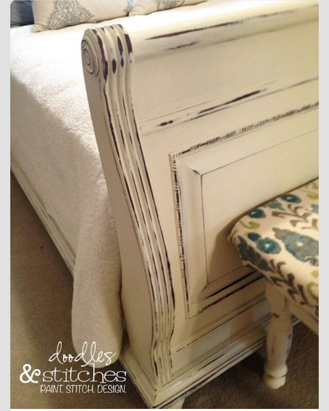 Redo The Sleigh Bed Sleigh Bed Painted Bed Makeover Sleigh Bed