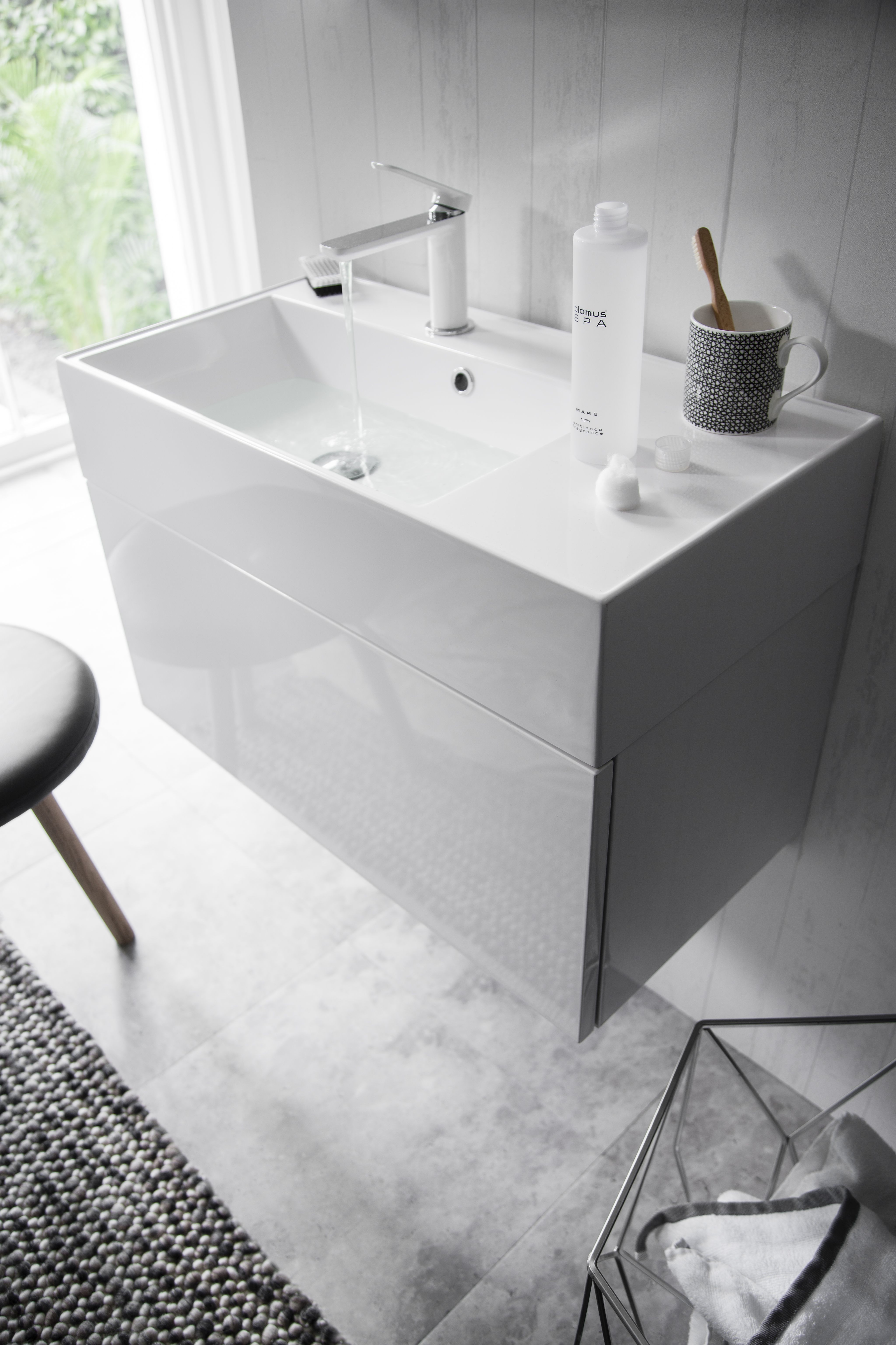 Attirant Make A Striking Statement To Enhance Any Basin Or Vanity Unit In Your  Bathroom With The Pier Basin Monobloc Tap In A Crisp White Finish From  Crosswater UK. ...
