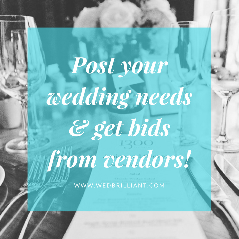 post all your wedding needs and get bids from wedding vendors for