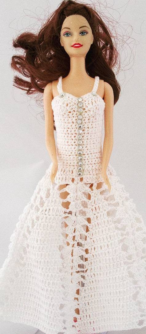27 Free Crochet Barbie Clothing Model Ideas With You Colorize Your Toys! - Page 14 of 27 #crochetedbarbiedollclothes