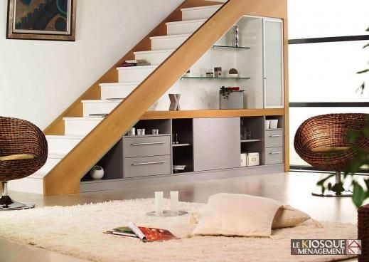 agencement sous escalier sur mesure le kiosque am nagement pinterest sous escalier. Black Bedroom Furniture Sets. Home Design Ideas