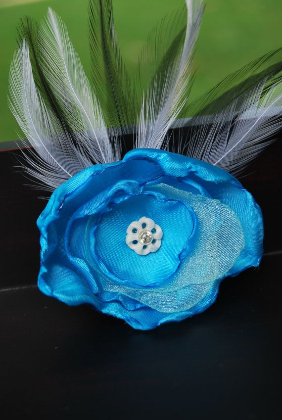 Blue Peony Fascinator