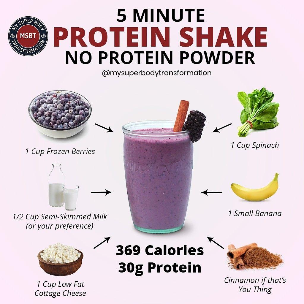 5 Minute Protein Shake Smoothie Recipes Healthy Breakfast High Protein Smoothies Homemade Protein Shakes