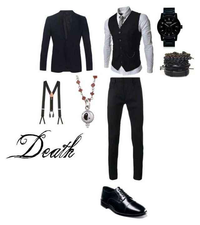 """Death: Formal 1"" by chasingstorylines on Polyvore featuring TheLees, Burberry, Haider Ackermann, Nunn Bush, Nixon, Trafalgar, men's fashion and menswear"