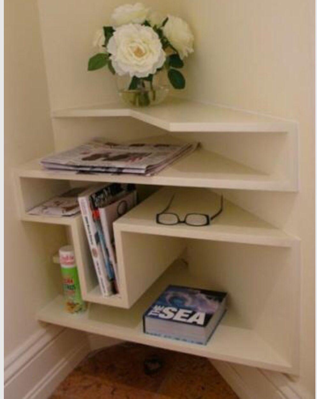 Ideal para espacios reducidos organizaci n pinterest for Repisas espacios pequenos