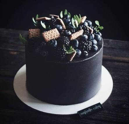 17 Ideas for birthday cake black desserts -   12 black cake Birthday ideas
