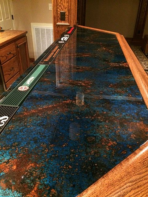 Pin By Gwendolyn Campbell On 2325 Basement Copper Countertops Copper Bar Top Copper Bar
