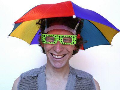 Umbrella Hat Lol Rainbow Umbrella Umbrella Headwear