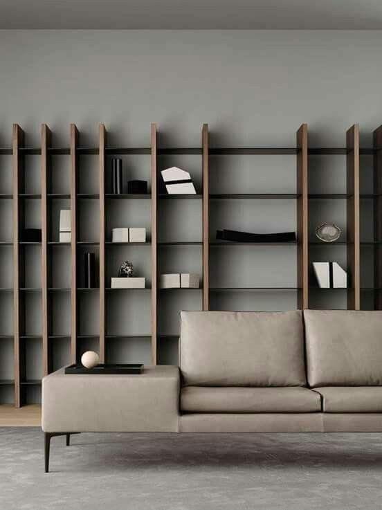 Pin By Zi Wei On Librerie Bookshelf Design Living Room Shelves Wall Shelves Living Room