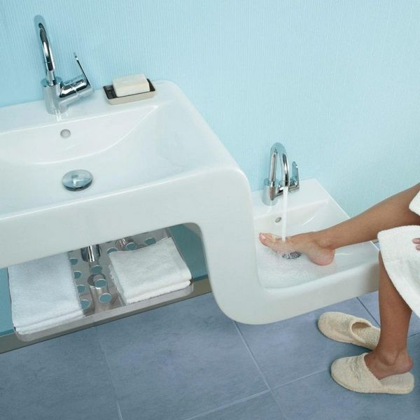sink bathroom design innovative family knows height two water small large