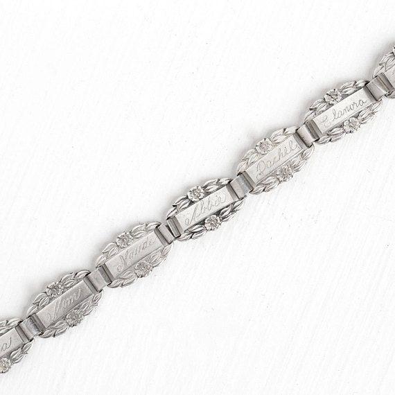 bracelets Vintage forget-me-not link