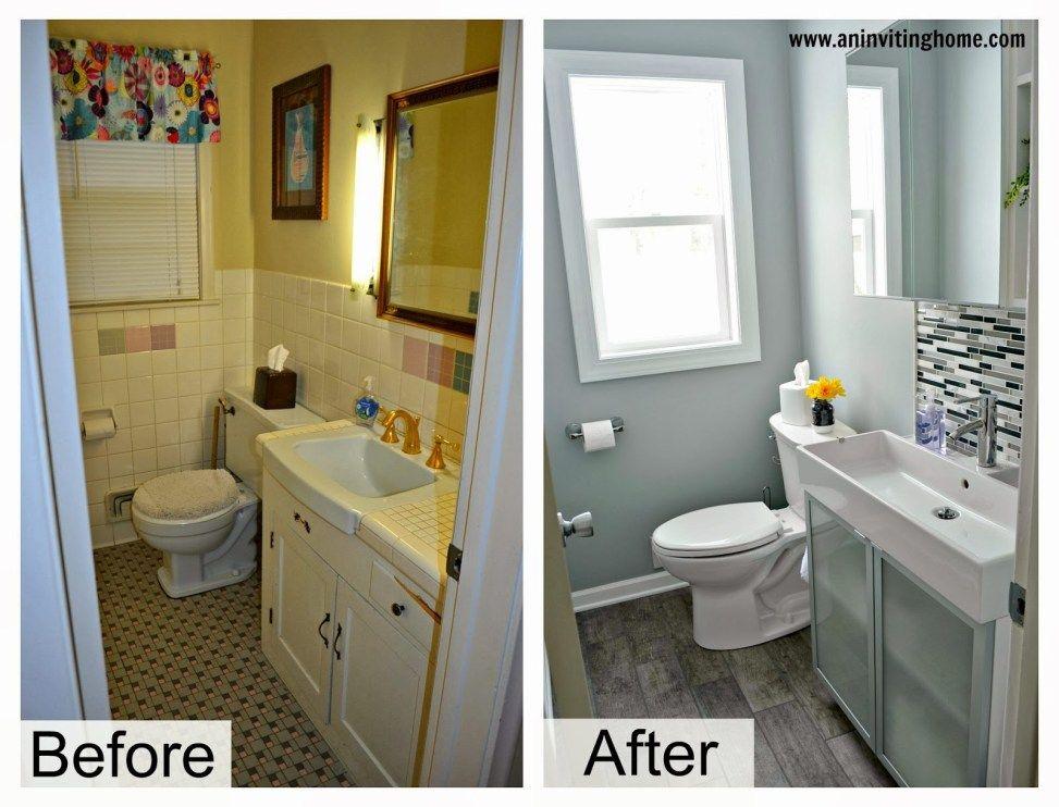 37 Small Bathroom Makeovers Small Bathroom Makeover Diy Bathroom Remodel Large Bathrooms