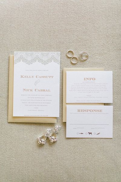 Create your own printable wedding invitation suite with Swell & Grand.  This image by @rachelsolomonphoto showcases our Lace Template: http://www.swellandgrand.com/collections/wedding-invitations