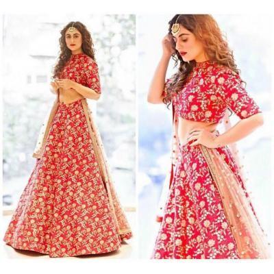 Designer Heavy embroidered wedding lehenga   Indian ...