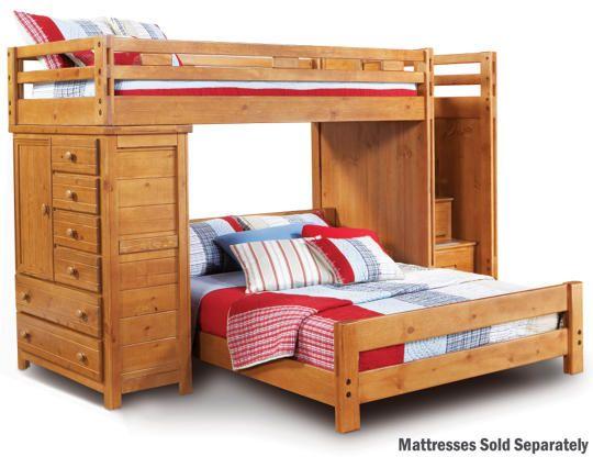 Best Twin Full Step Loft With Chest Art Van Furniture Bunk Beds Kids Bunk Beds Bunk Beds With 400 x 300