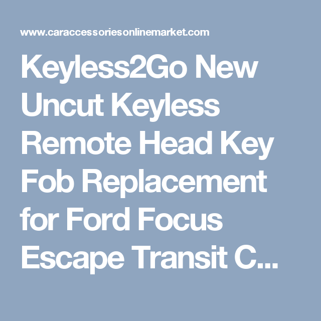 Keyless2go New Uncut Keyless Remote Head Key Fob Replacement For
