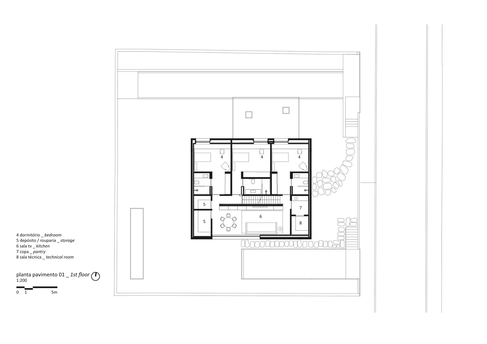 Gallery Of Cube House Suzana Glogowski Studio Mk27 Marcio Kogan 26 Floor Plans House Home Studio