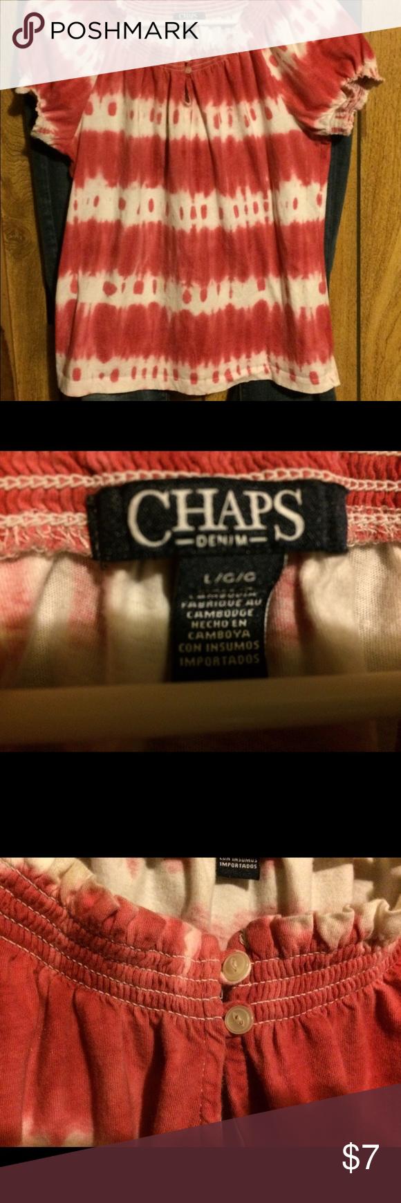Red flannel unbuttoned  Chaps Denim Shirt  Tie dyed shirts Dye shirt and Denim shirt
