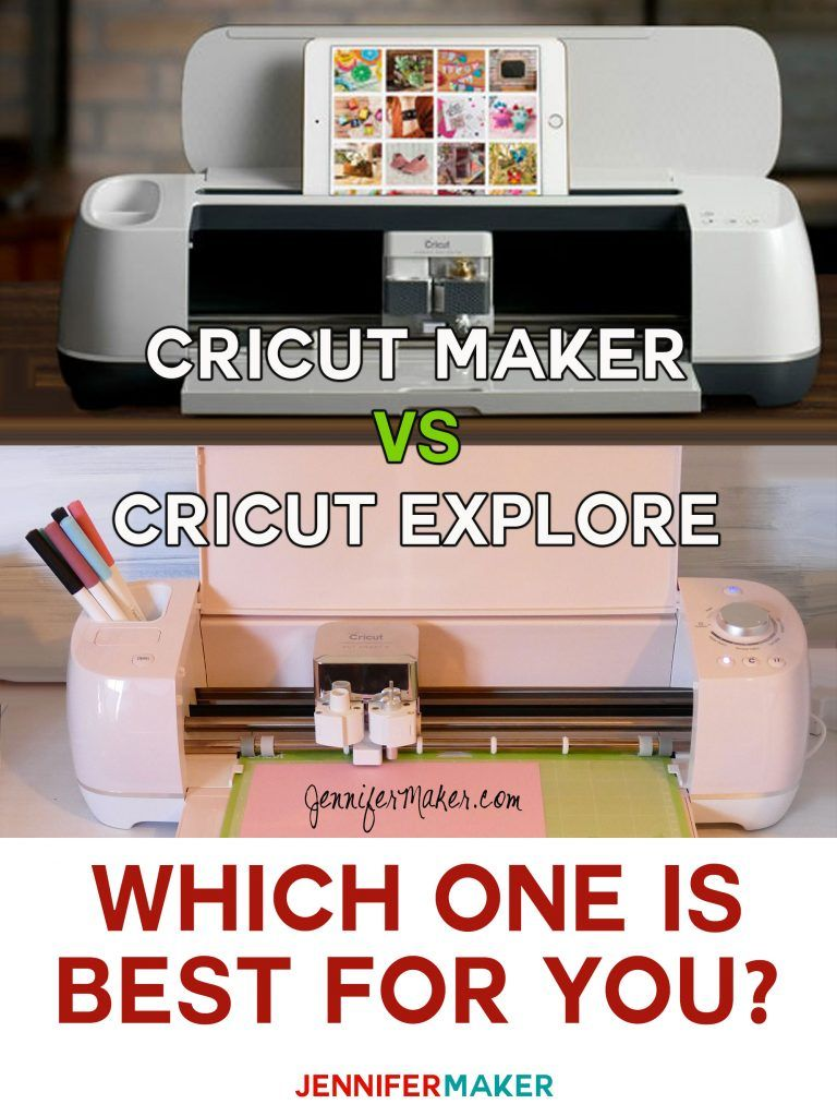 Cricut Maker vs. Cricut Explore What's Different, What's