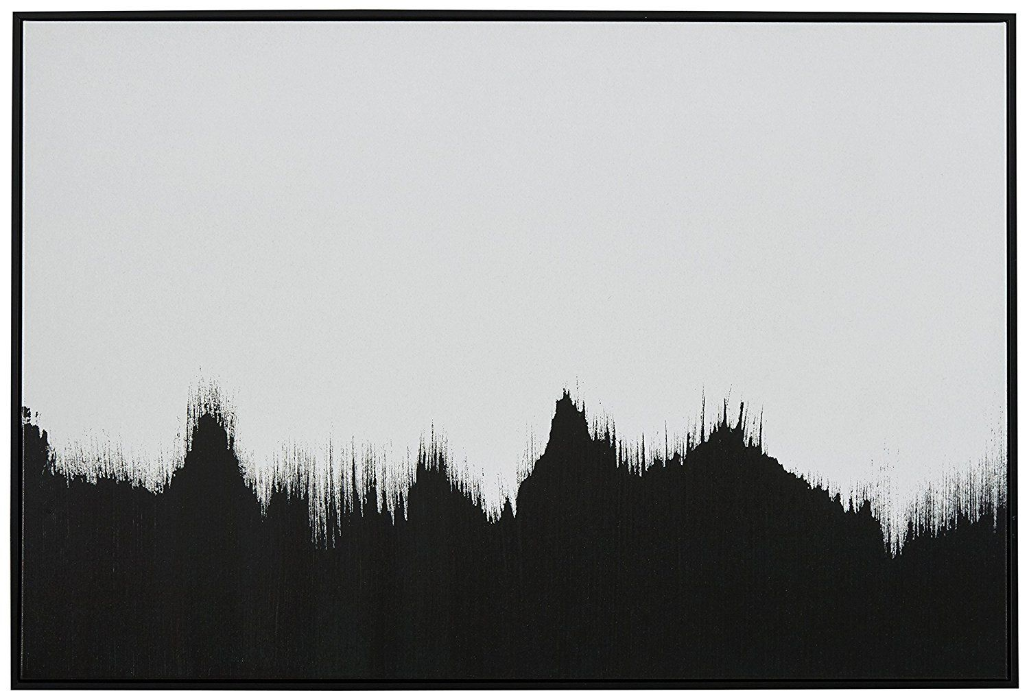Amazon.com: Abstract Black and White Print of Tree Line in Black ...