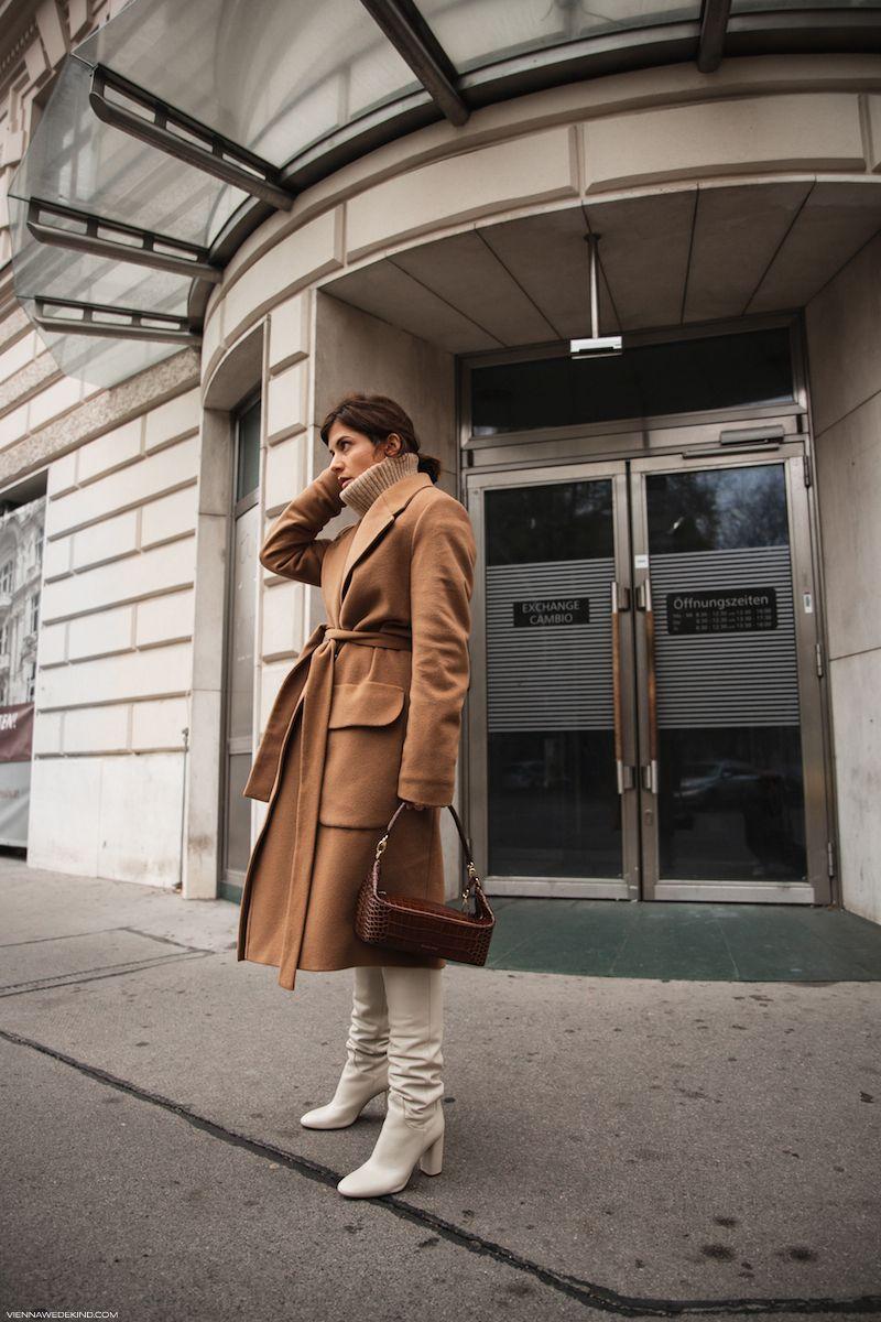 WINTER STYLE FILE: KNEE HIGH BOOTS | Weiße stiefel, Beige