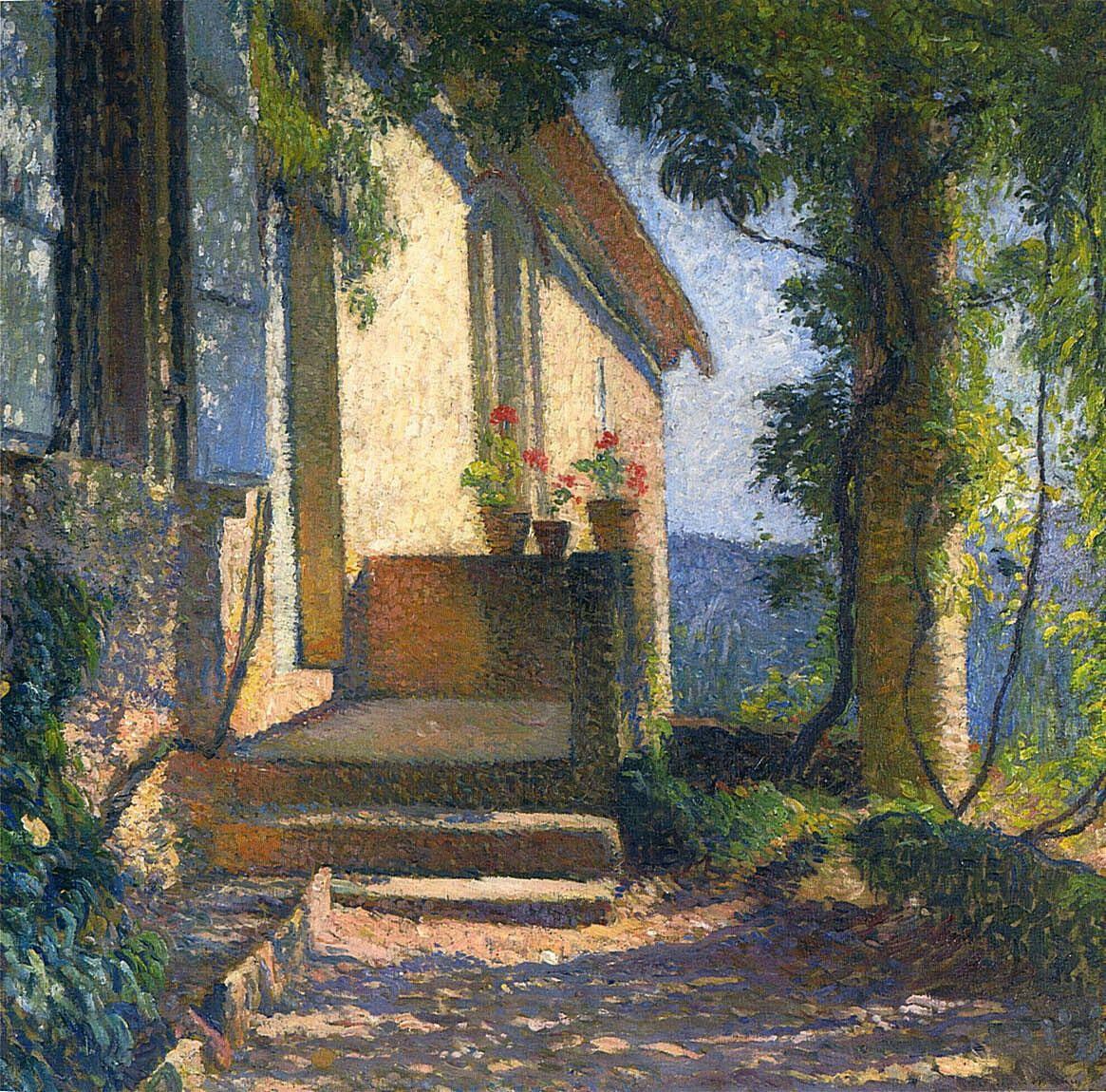 Henri Martin (French, 1860-1943) Facade of the House