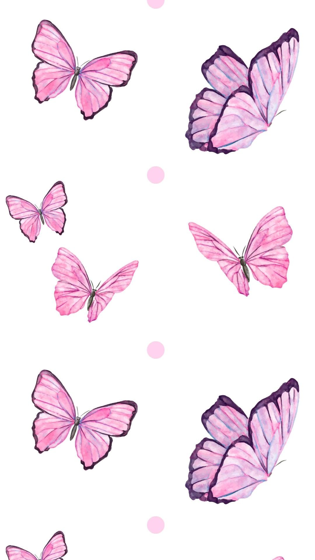 Iphone Aesthetic Tumblr Iphone Pink Butterfly Wallpaper
