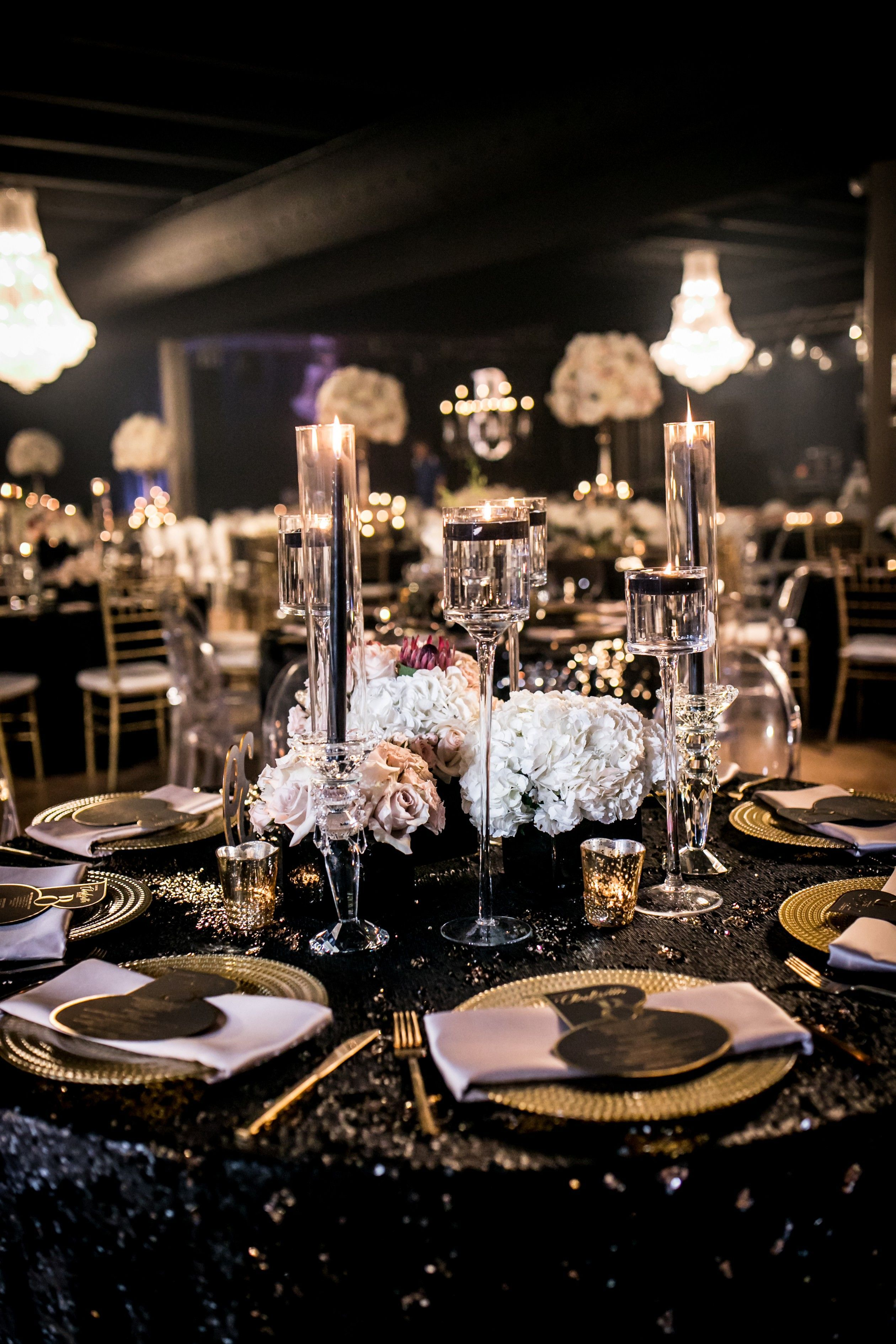 This luxe birthday party design has a classy 70s theme