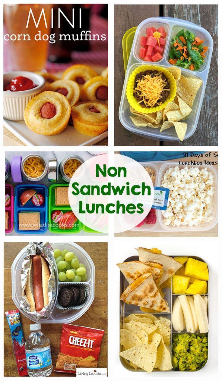 Non Sandwich School Lunches