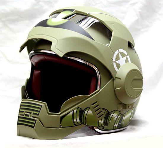 masei un casque moto au look d 39 iron man casque la deco et force. Black Bedroom Furniture Sets. Home Design Ideas