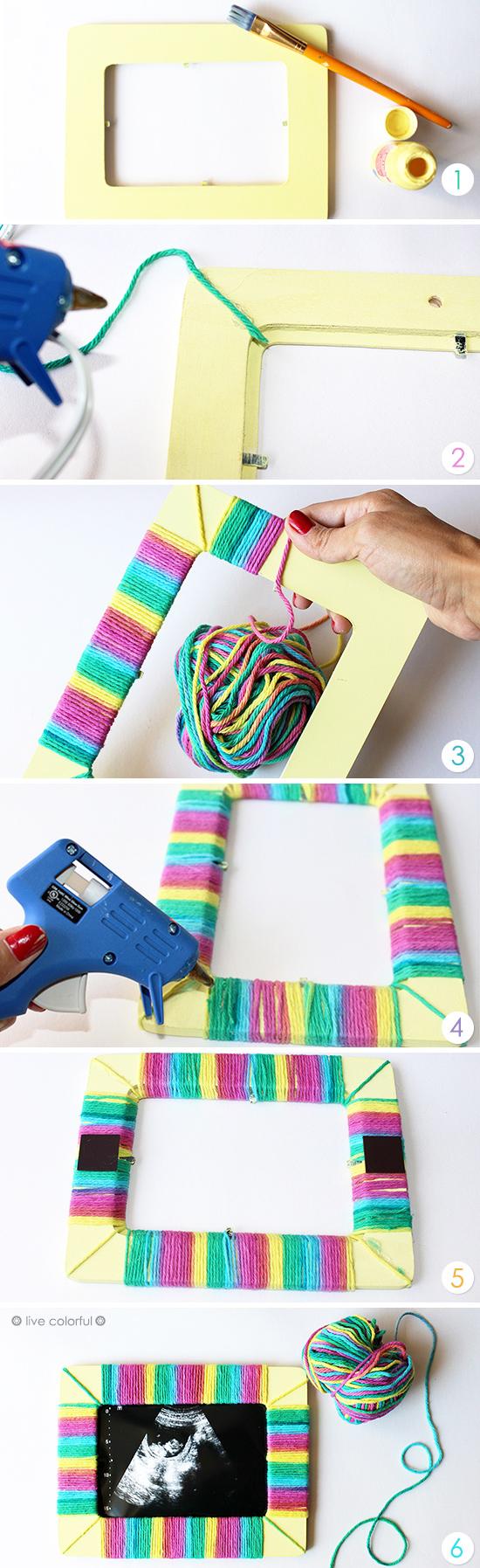 Haz un Marco Colorido para el Ultrasonido de Tu Bebé | Pinterest ...