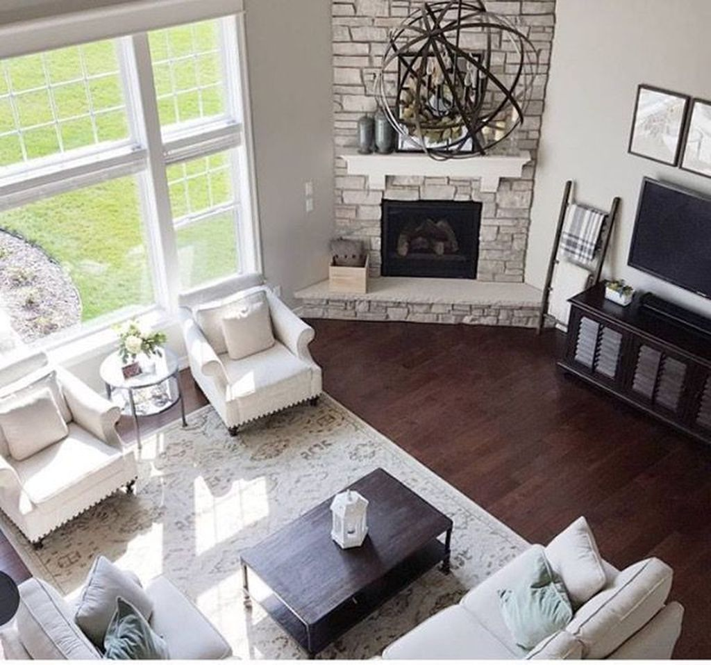 56 Relaxing Small Living Room Decor Ideas With Fireplace Decoratrend Com Living Room Corner Livingroom Layout Fireplace Furniture